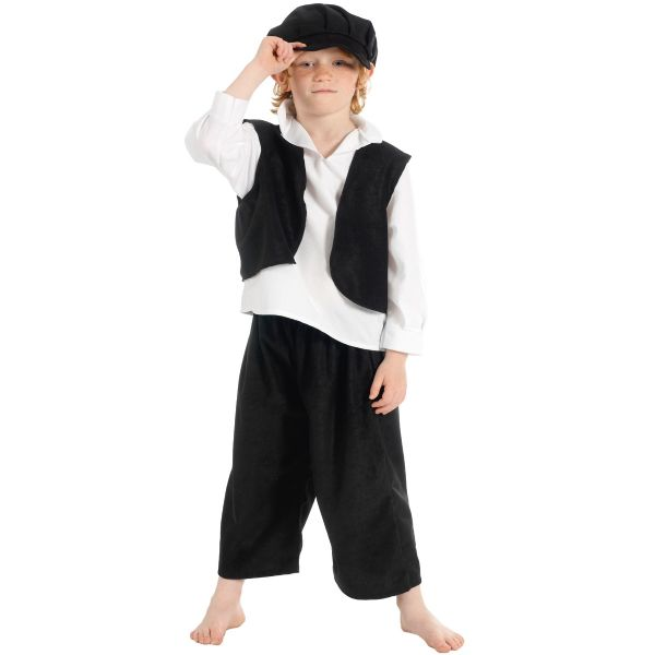 Children's Boys Victorian Chimney Sweep Urchin Fancy Dress Up Costume